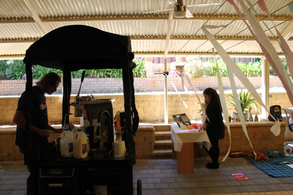 coffee cart barista roving cafe