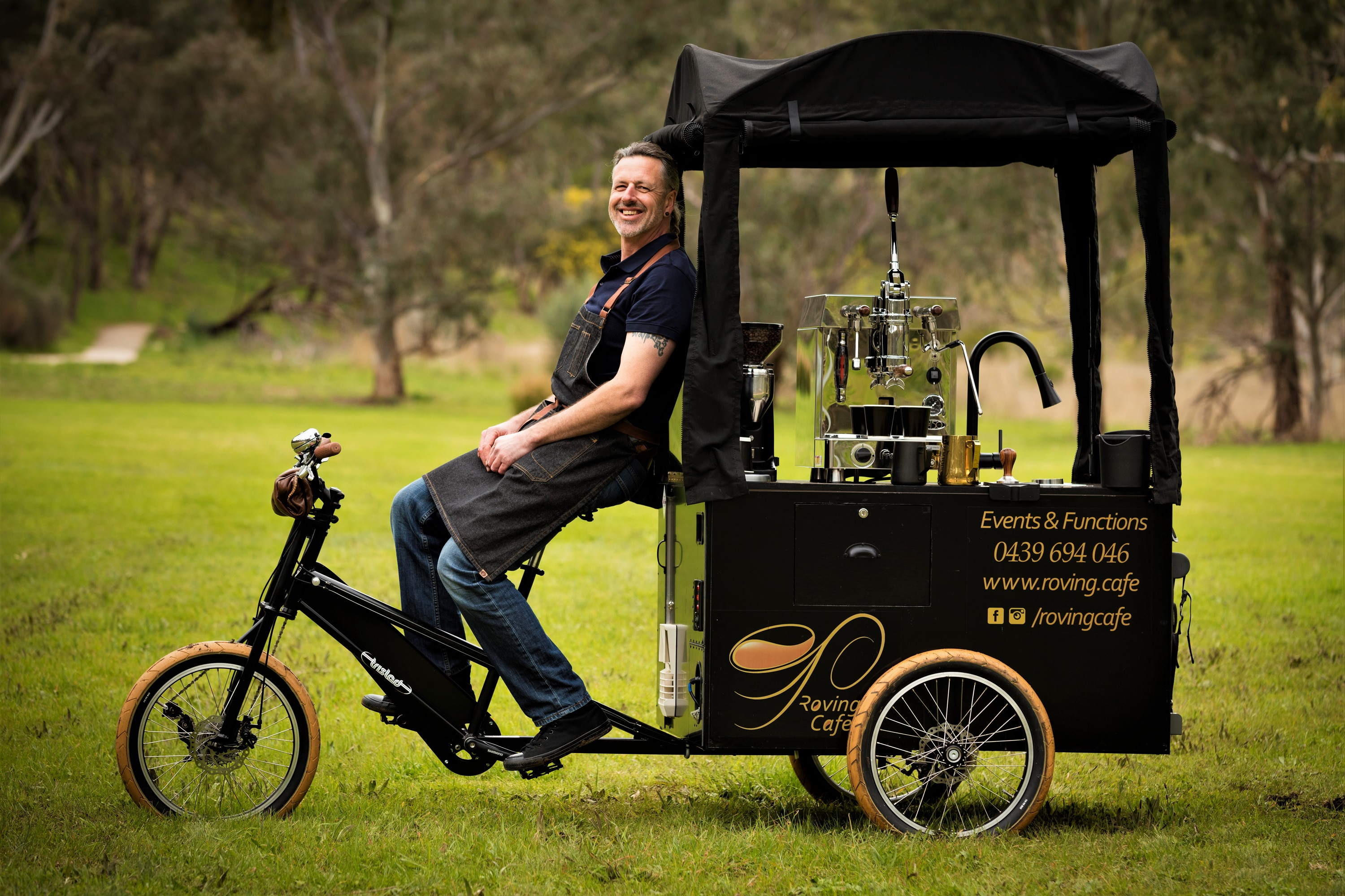 coffee cart on a tricycle