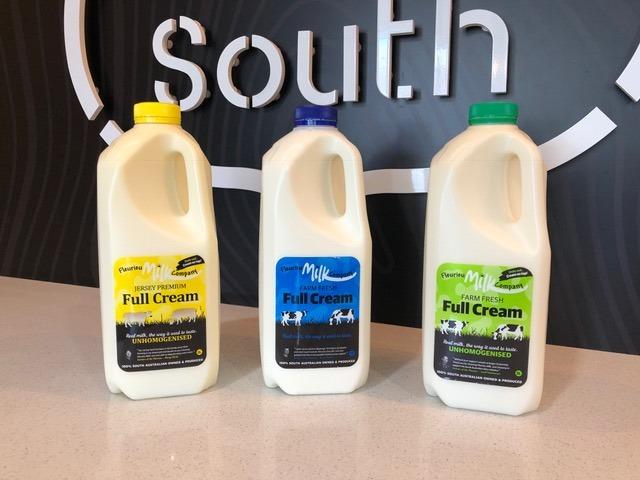 Fleurieu Milk, lactose free, standard and skim